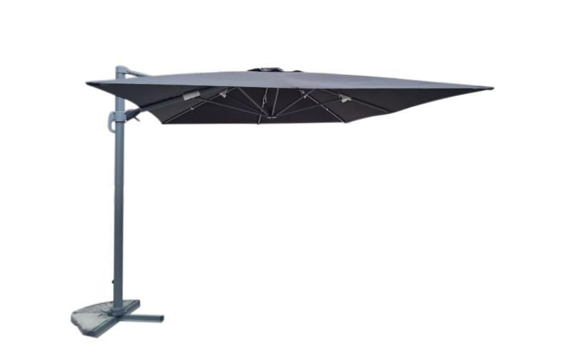 Luksus Hængeparasol 300x400cm Sort