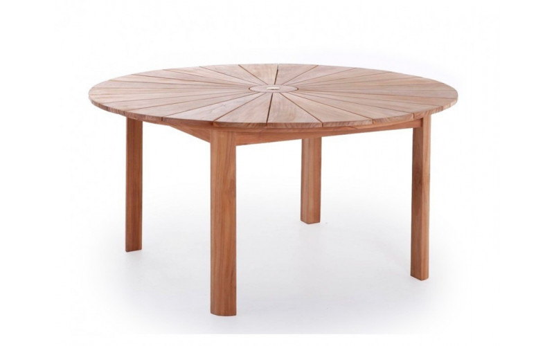 Sun Luksus rundt teak bord Ø 180 cm