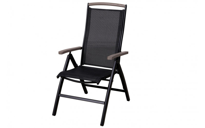 Nydala Positionsstol sort med nonwood armlæn