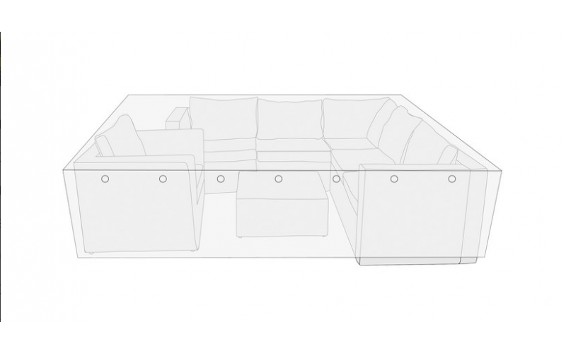 Overtræk sofasæt 260x260x65 cm.