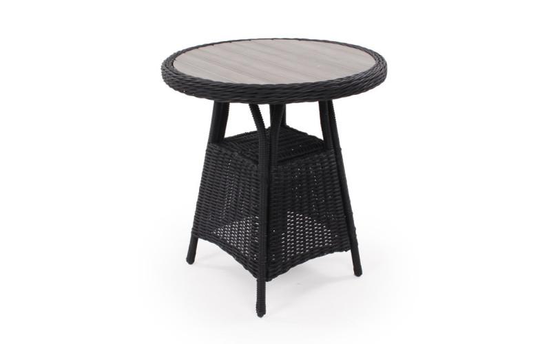 Siesta Sort Cafébord 70Ø
