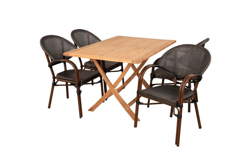 Sofia Bistro havemøbelsæt 70x120 cm