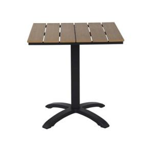 Cafebord 70x70 Sort / Brun nonwood