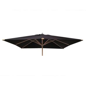 Luksus Parasol 3x3 meter Sort