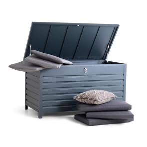 Hyndebox Lux aluminium grå 75x138x72 cm