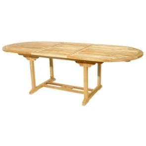 Bord oval med udtræk 100x180/240