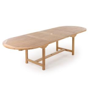 Alma Teak udtræksbord - 100x200/250/300 cm