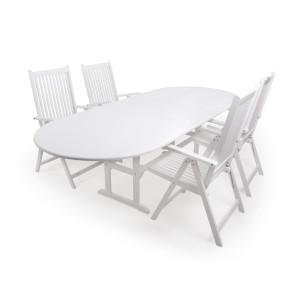 Amalienborg Havemøbelsæt m/udtræksbord 100x200/250