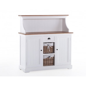 Buffet møbel hvid 125x125x40 cm