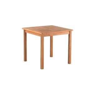 Sidebord med Zig Zag top i Kerne Teak - 50 x 50 cm