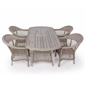 Enø havemøbelsæt med 4 stole