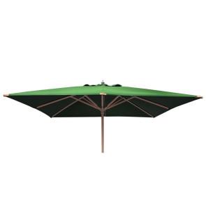Luksus Parasol 3x3 meter Grøn