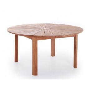 Sun Luksus rundt teak bord Ø 150 cm